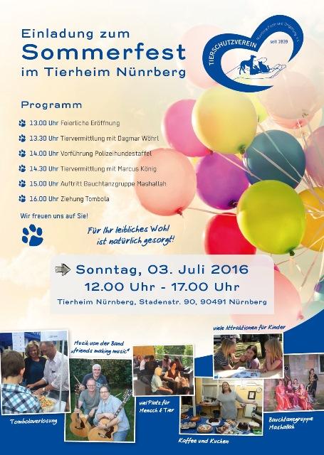 Infostand beim Sommerfest im Tierheim Nürnberg